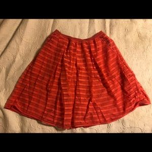 Coral a-line skirt